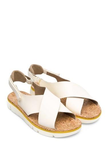 Camper Deri Sandalet Bej